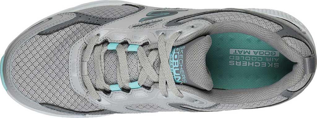 Women's Skechers GOrun Consistent Running Shoe, Gray/Turquoise, large, image 4