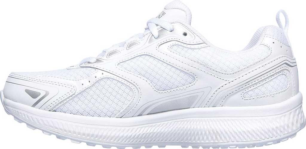 Women's Skechers GOrun Consistent Running Shoe, White/Silver, large, image 3