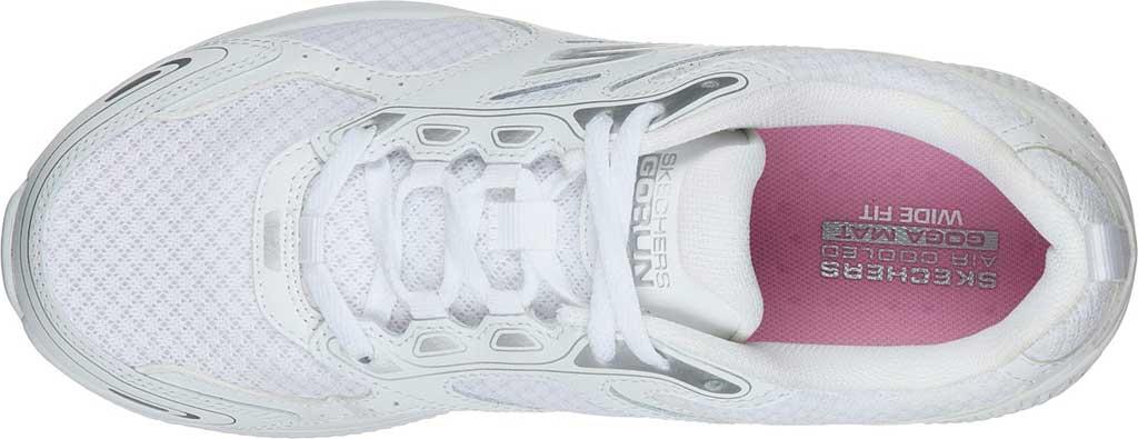 Women's Skechers GOrun Consistent Running Shoe, White/Silver, large, image 4
