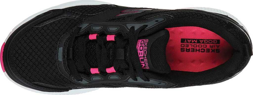 Women's Skechers GOrun Consistent Running Shoe, Black/Pink, large, image 4