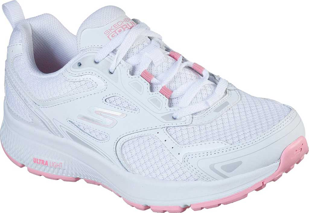 Women's Skechers GOrun Consistent Running Shoe, White/Pink, large, image 1