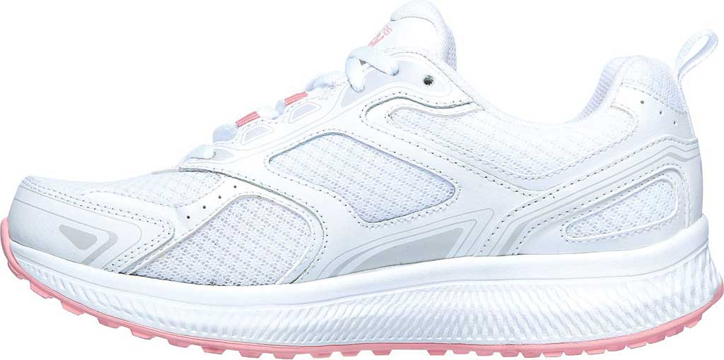 Women's Skechers GOrun Consistent Running Shoe, White/Pink, large, image 3