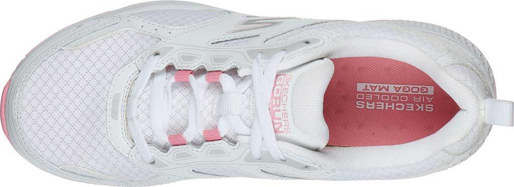 Women's Skechers GOrun Consistent Running Shoe, White/Pink, large, image 4
