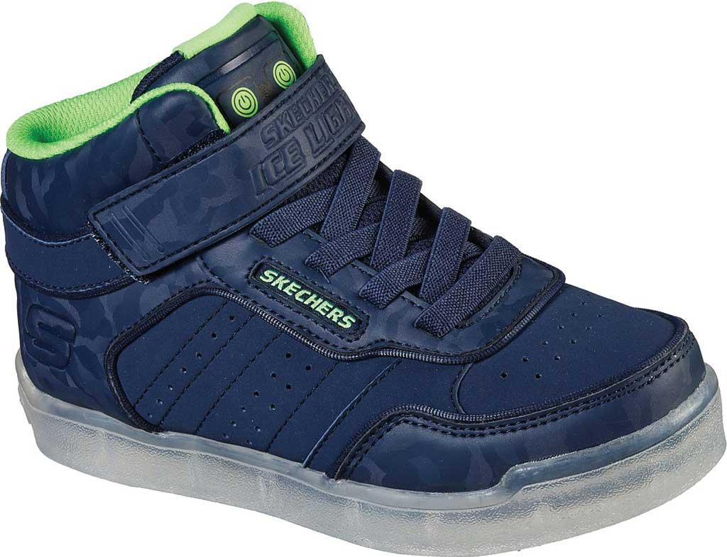 Boys' Skechers Energy Lights Ultra E-Pro III Cool-Tronics Sneaker, Navy/Lime, large, image 1