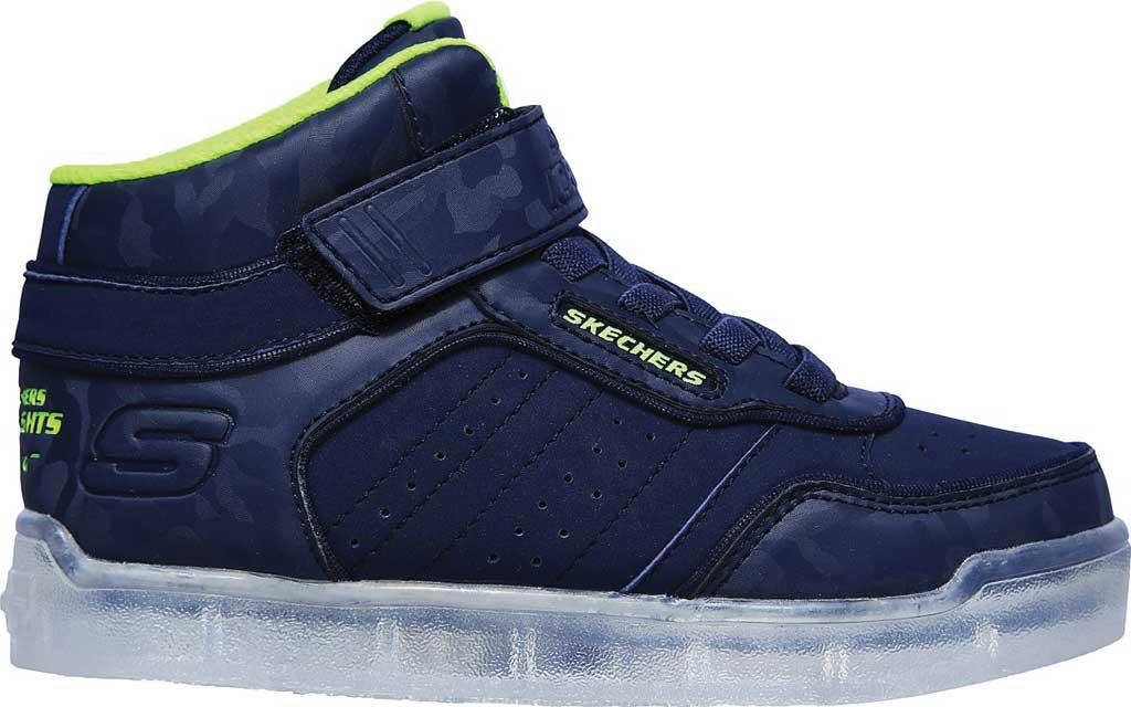 Boys' Skechers Energy Lights Ultra E-Pro III Cool-Tronics Sneaker, Navy/Lime, large, image 2