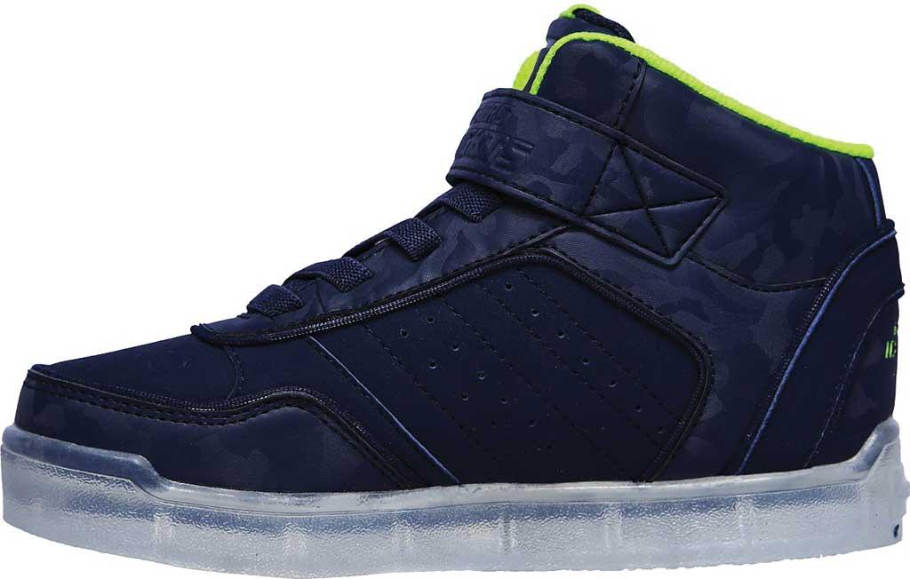 Boys' Skechers Energy Lights Ultra E-Pro III Cool-Tronics Sneaker, Navy/Lime, large, image 3