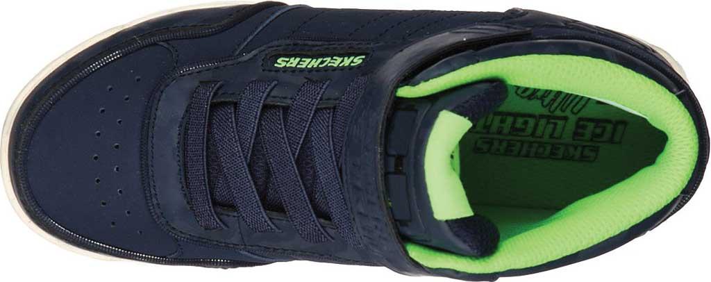Boys' Skechers Energy Lights Ultra E-Pro III Cool-Tronics Sneaker, Navy/Lime, large, image 4
