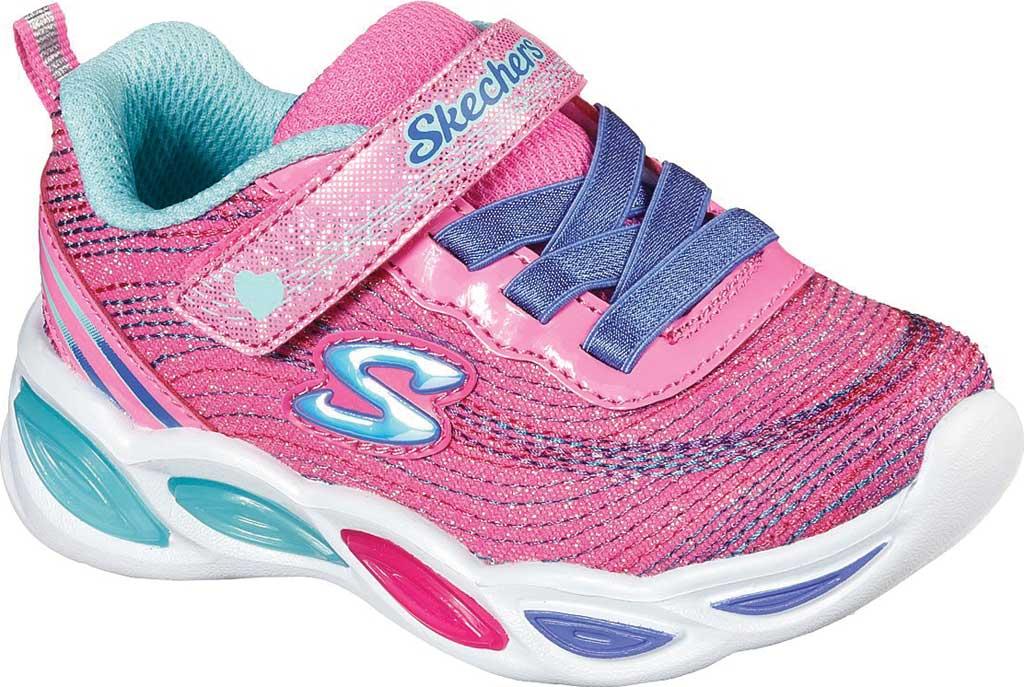 Infant Girls' Skechers S Lights Shimmer Beams Sparkle Glitz Sneaker, Pink/Multi, large, image 1