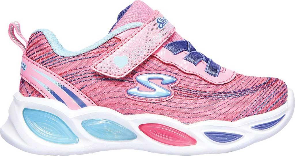 Infant Girls' Skechers S Lights Shimmer Beams Sparkle Glitz Sneaker, Pink/Multi, large, image 2