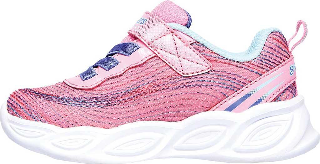 Infant Girls' Skechers S Lights Shimmer Beams Sparkle Glitz Sneaker, Pink/Multi, large, image 3