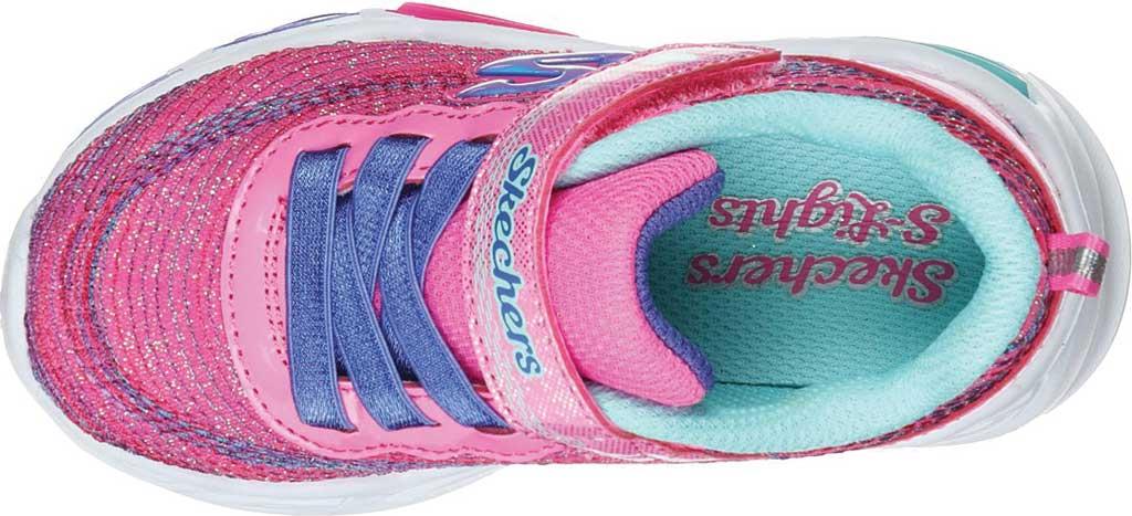 Infant Girls' Skechers S Lights Shimmer Beams Sparkle Glitz Sneaker, Pink/Multi, large, image 4