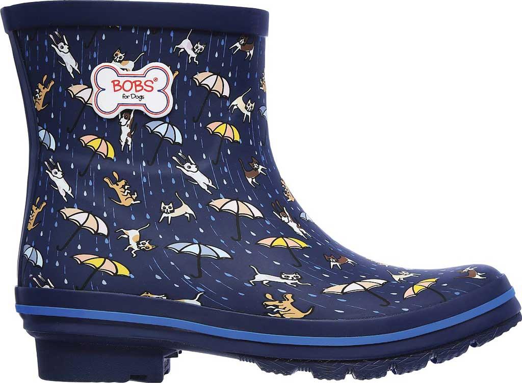 Women's Skechers BOBS Rain Check Puddle Paws Rain Boot, Navy/Multi, large, image 2