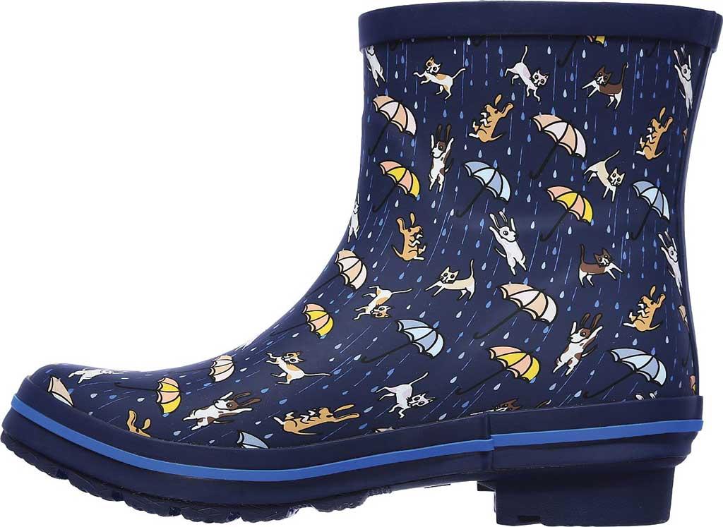 Women's Skechers BOBS Rain Check Puddle Paws Rain Boot, Navy/Multi, large, image 3
