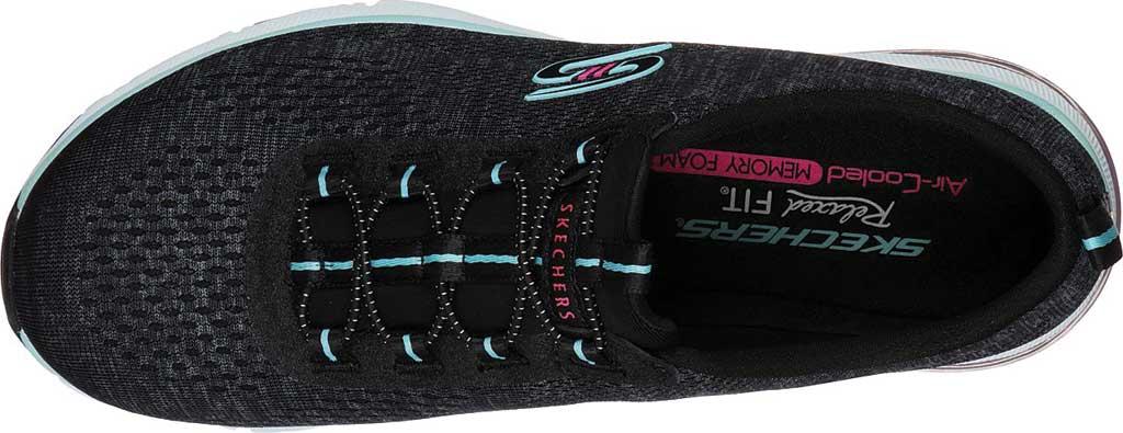 Women's Skechers Relaxed Fit Skech-Air Edge Brite Times Sneaker, Black/Aqua, large, image 4