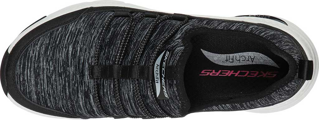 Women's Skechers Arch Fit Rainbow View Slip On, Black/White, large, image 4