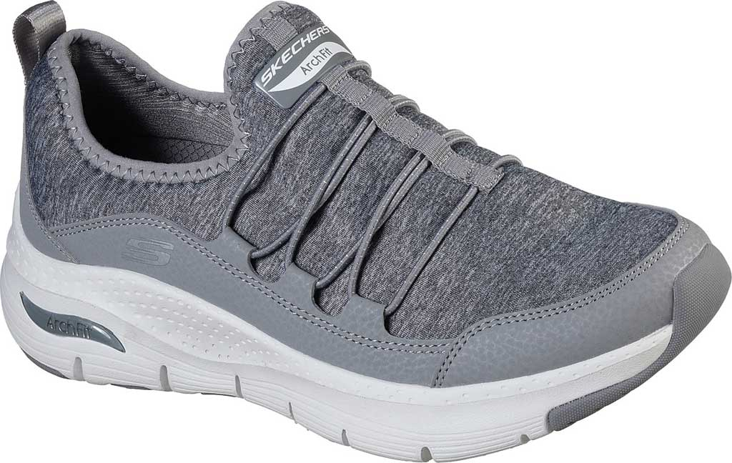 Women's Skechers Arch Fit Rainbow View Slip On, Gray, large, image 1