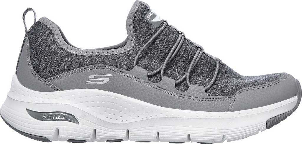 Women's Skechers Arch Fit Rainbow View Slip On, Gray, large, image 2