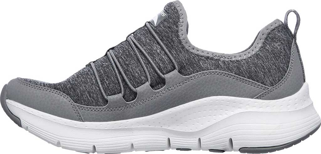 Women's Skechers Arch Fit Rainbow View Slip On, Gray, large, image 3