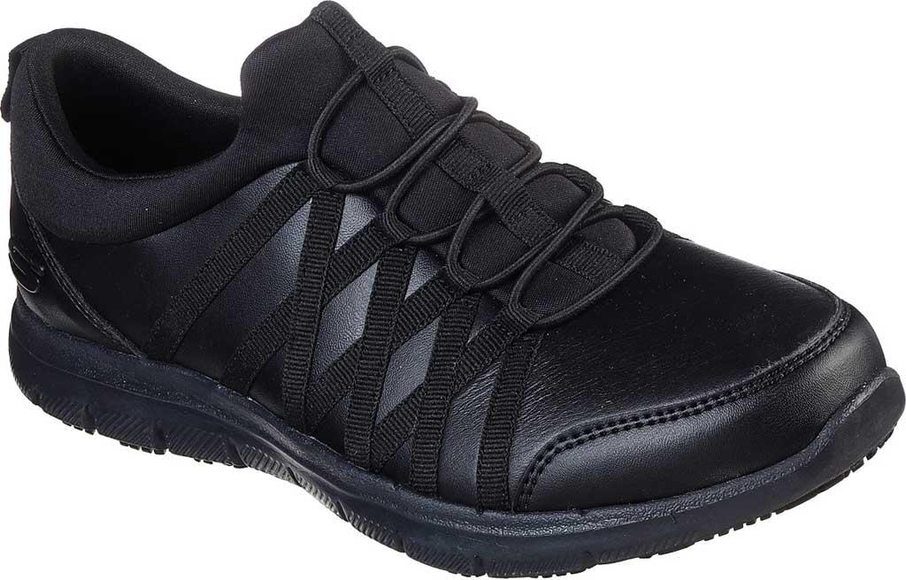 Women's Skechers Work Relaxed Fit Ghenter Dagsby SR Sneaker, Black, large, image 1