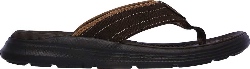Men's Skechers Relaxed Fit Sargo Wolters Flip Flop, Chocolate, large, image 2