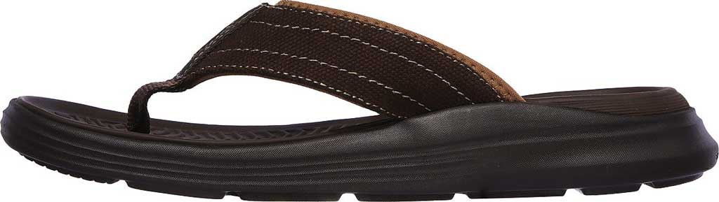 Men's Skechers Relaxed Fit Sargo Wolters Flip Flop, Chocolate, large, image 3