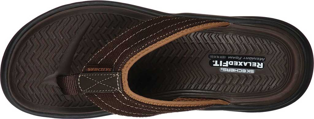 Men's Skechers Relaxed Fit Sargo Wolters Flip Flop, Chocolate, large, image 4