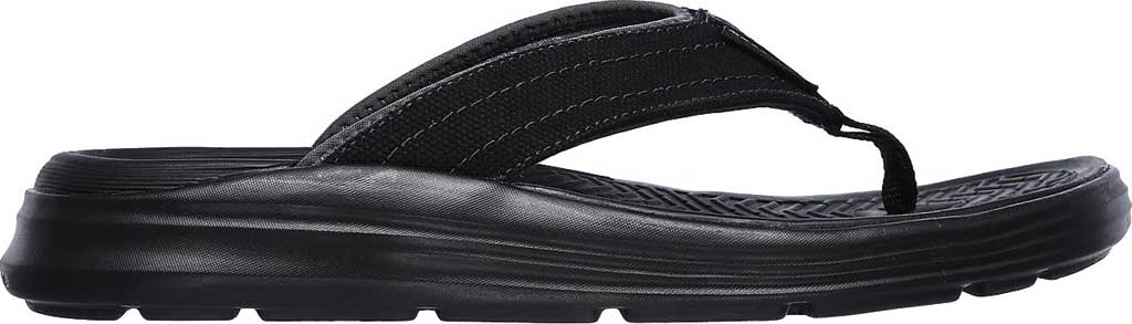 Men's Skechers Relaxed Fit Sargo Wolters Flip Flop, Black, large, image 2