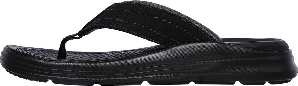 Men's Skechers Relaxed Fit Sargo Wolters Flip Flop, Black, large, image 3