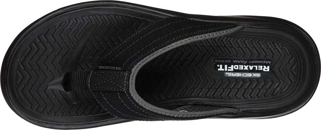 Men's Skechers Relaxed Fit Sargo Wolters Flip Flop, Black, large, image 4