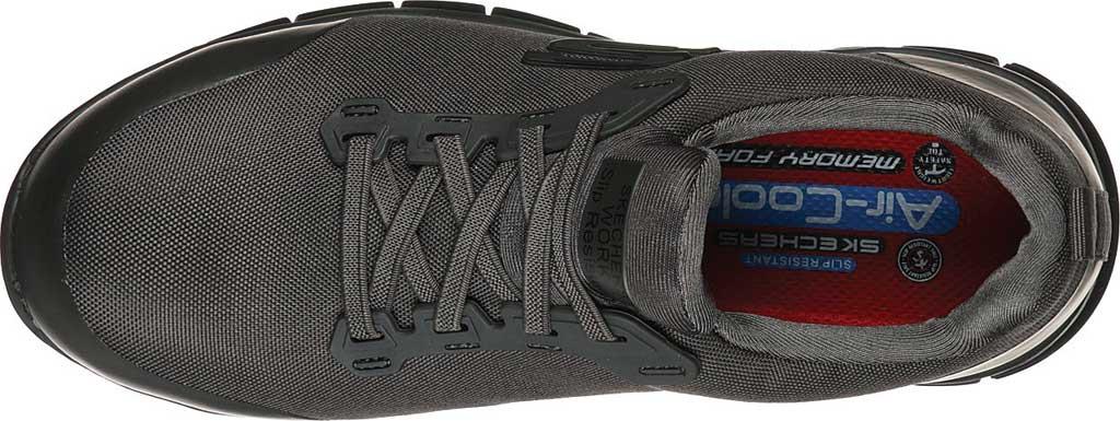 Women's Skechers Work Sure Track Irmo Alloy Toe Sneaker, Charcoal, large, image 4