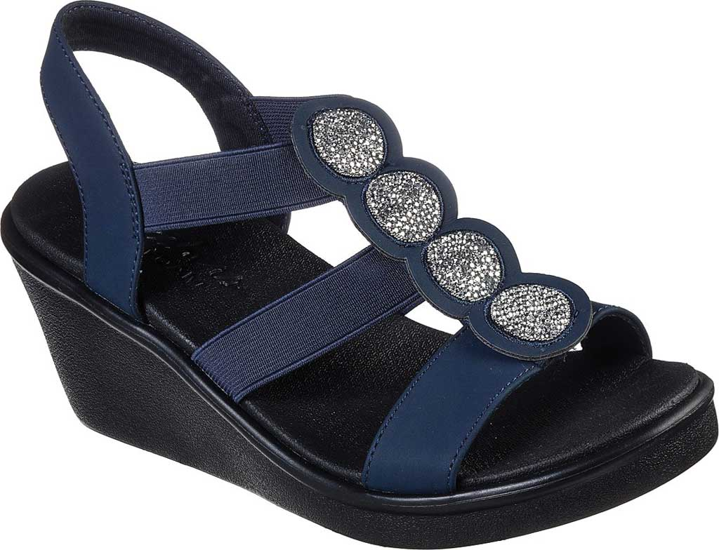 Women's Skechers Rumble On Camp Glam Wedge Sandal, , large, image 1