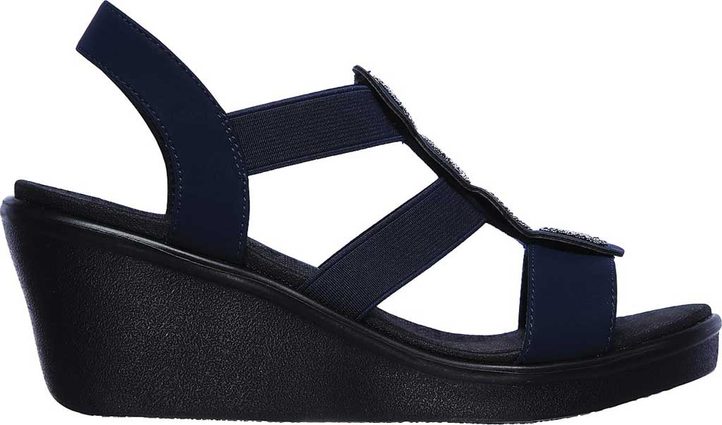 Women's Skechers Rumble On Camp Glam Wedge Sandal, , large, image 2