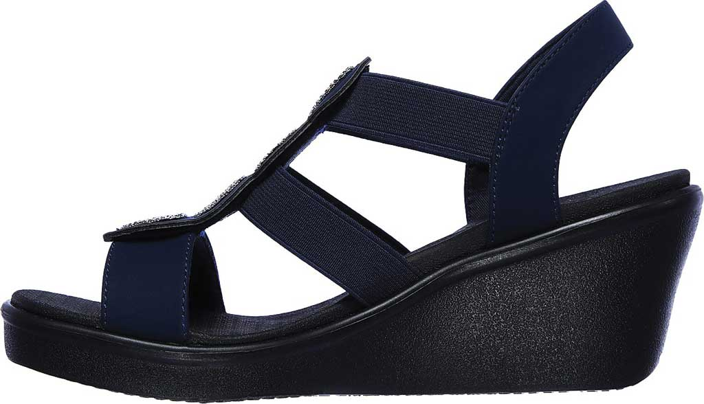 Women's Skechers Rumble On Camp Glam Wedge Sandal, , large, image 3