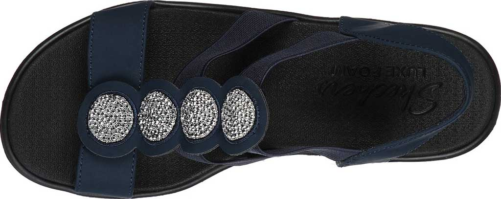 Women's Skechers Rumble On Camp Glam Wedge Sandal, , large, image 4