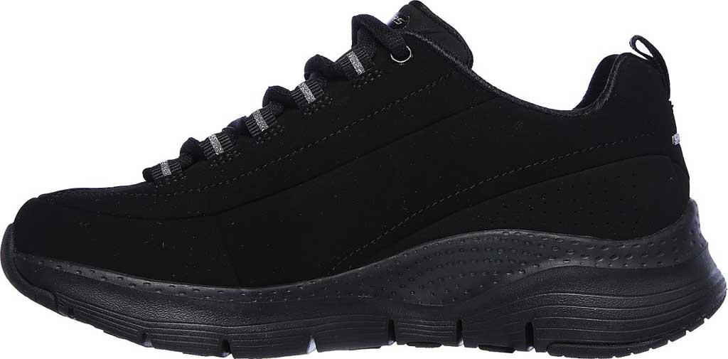 Women's Skechers Arch Fit Metro Skyline Sneaker, Black/Black, large, image 3