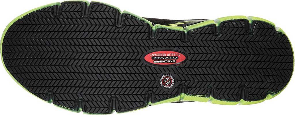 Men's Skechers Work Telfin Rieg Comp Toe Sneaker, Black/Lime, large, image 5