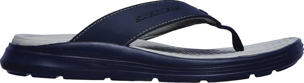 Men's Skechers Relaxed Fit Sargo Sunview Flip Flop, Navy/Gray, large, image 2