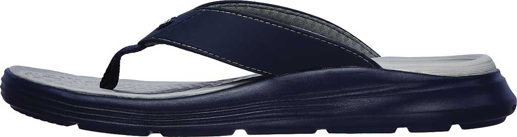 Men's Skechers Relaxed Fit Sargo Sunview Flip Flop, Navy/Gray, large, image 3