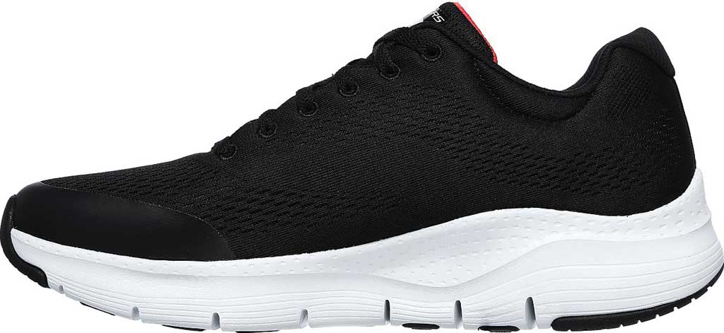 Men's Skechers Arch Fit Sneaker, Black/Red, large, image 3