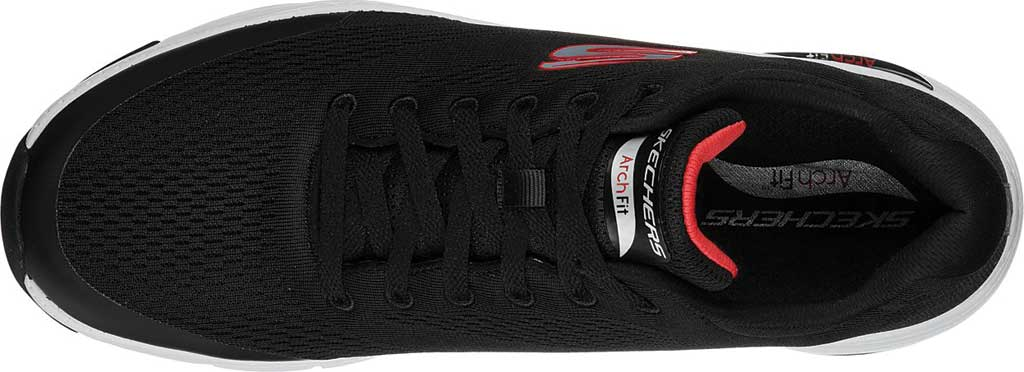 Men's Skechers Arch Fit Sneaker, Black/Red, large, image 4