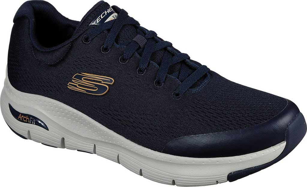 Men's Skechers Arch Fit Sneaker, Navy, large, image 1
