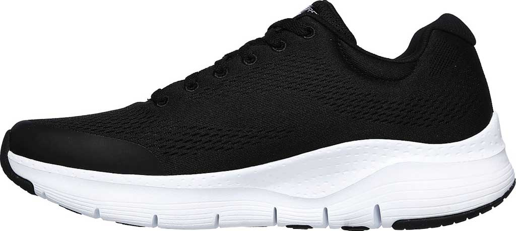 Men's Skechers Arch Fit Sneaker, Black/White, large, image 3