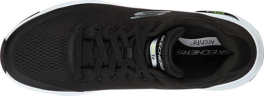 Men's Skechers Arch Fit Sneaker, Black/White, large, image 4