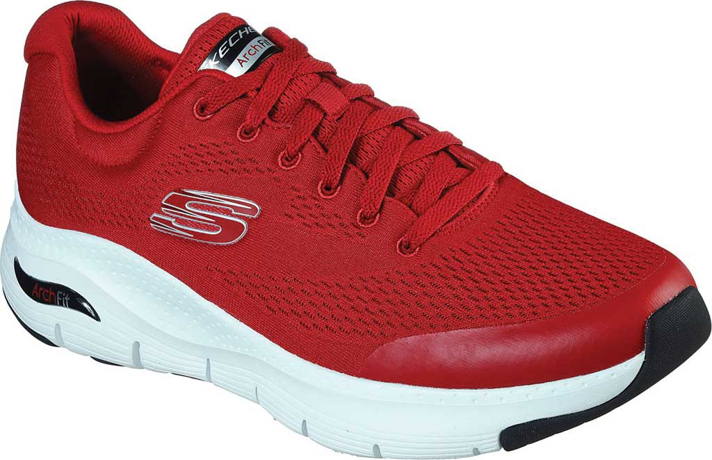 Men's Skechers Arch Fit Sneaker, Red, large, image 1