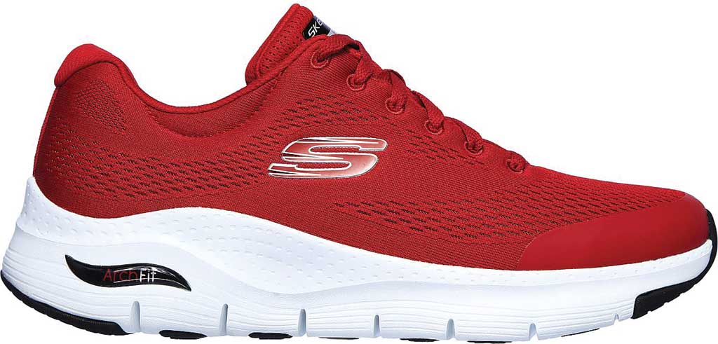 Men's Skechers Arch Fit Sneaker, Red, large, image 2