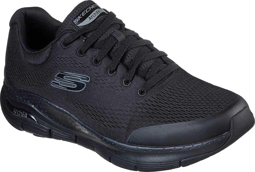 Men's Skechers Arch Fit Sneaker, Black/Black, large, image 1