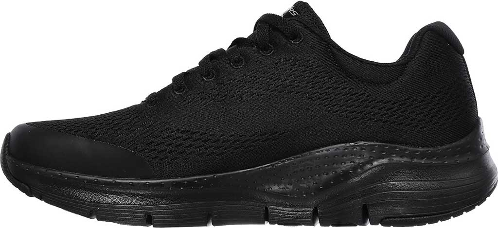 Men's Skechers Arch Fit Sneaker, Black/Black, large, image 3