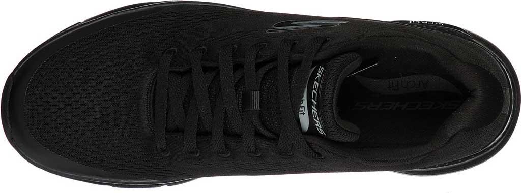 Men's Skechers Arch Fit Sneaker, Black/Black, large, image 4