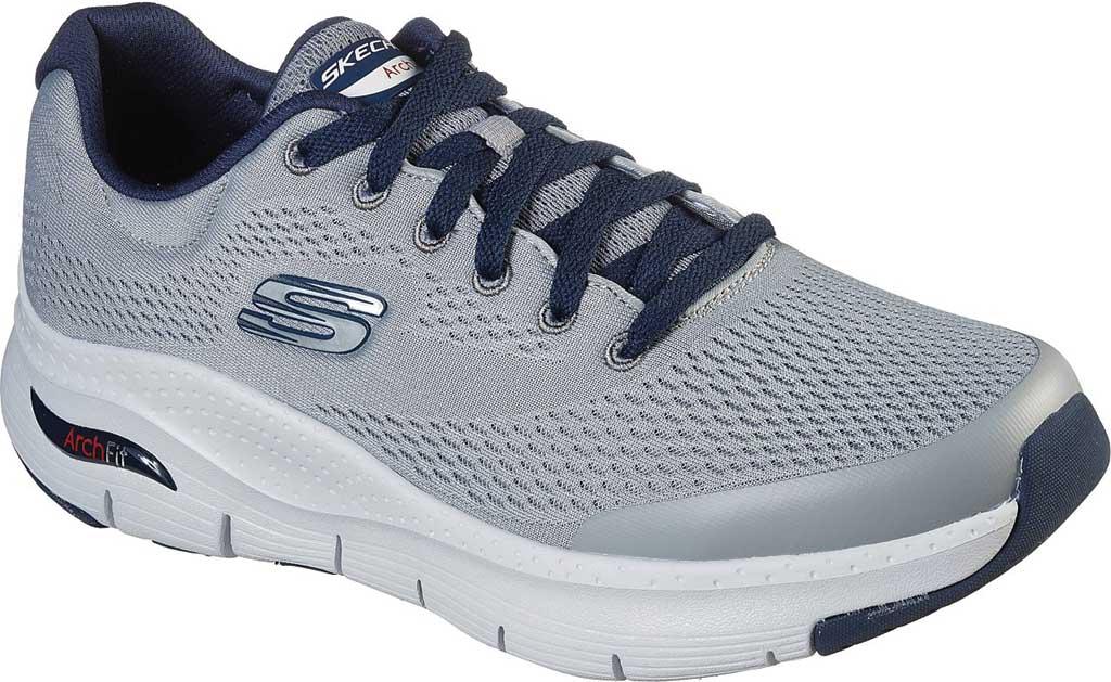 Men's Skechers Arch Fit Sneaker, Gray/Navy, large, image 1