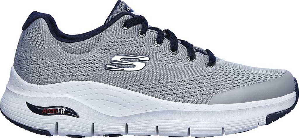 Men's Skechers Arch Fit Sneaker, Gray/Navy, large, image 2